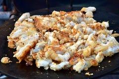 Jibias fritas y calamar frito huevo Fotos de archivo libres de regalías