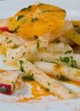 Jicama salad with fresh oranges Royalty Free Stock Image