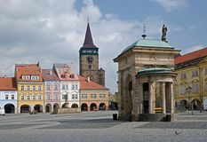 Jicin, Czech republic. Valdicka gate in Jicin, Cesky Raj, Czech republic Stock Photos
