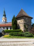 jicin novy Старые башенка и церковь Стоковые Изображения