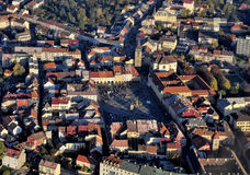 Jicin town square fly photo Stock Image