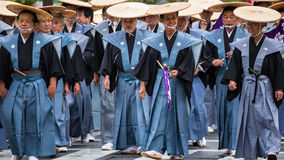 Jidai Matsuri在京都,日本 库存图片