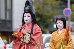 Jidai Matsuri在京都,日本 免版税库存图片