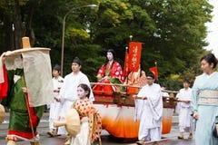 Jidai Matsuri节日在京都,日本 免版税库存图片