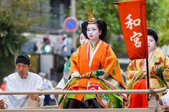 Jidai Matsuri i Kyoto, Japan Royaltyfri Foto