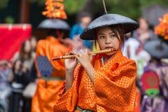 Jidai Matsuri i Kyoto, Japan Arkivbild