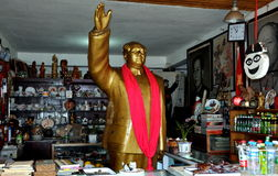 Jie Zi Ancient Town, China: Chairman Mao Statue Stock Photo