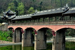 Jie Zi, China: Dragon Covered Bridge Royalty Free Stock Image