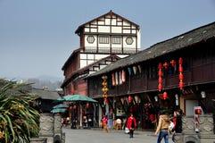 Jie Zi, China: Edificios cuadrados y departamentos de Jinyu imagen de archivo
