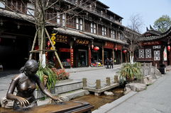 Jie Zi, China: Handsome Wooden Buildings Royalty Free Stock Photo