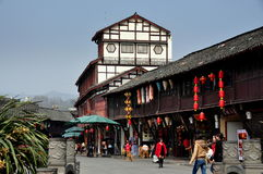 Jie Zi, China: Jinyu quadratische Gebäude u. Systeme stockbild