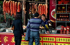 Jie Zi, China: People at Food Store Stock Photos