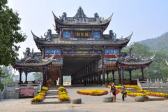 Jie Zi,China: Ruilong Covered Bridge Royalty Free Stock Photo