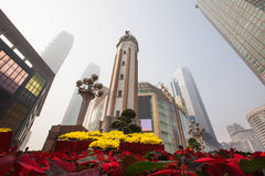Jiefangbei de Chongqing images stock