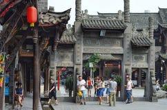 Jiezi, China: Alte Stadtstraßen-Szene Stockfotografie