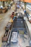 Jig gas cutting sheet metal. Royalty Free Stock Photo