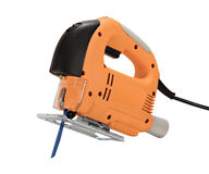 Jig Saw. Electric jig saw power tool isolated on white Stock Image