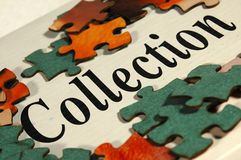 Collection jig-saw Royalty Free Stock Images