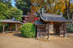 Jigen-do Shrine at Koraku-en garden in Okayama Royalty Free Stock Images