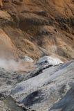Jigokudani hell valley in Noboribetsu, Hokkaido, Japan Stock Image