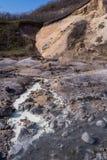 Jigokudani hell valley in Noboribetsu, Hokkaido, Japan Stock Photography
