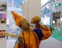 Jigong ( mad monk ) Stock Photo