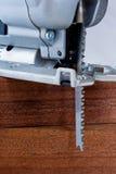 Jigsaw 1. Jigsaw with two cedar blocks Royalty Free Stock Photography