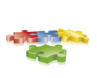 Jigsaw. Colorful jigsaw symbolic of teamwork or strategy stock illustration