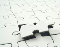 Jigsaw. Puzzle with last piece to be placed Royalty Free Stock Image