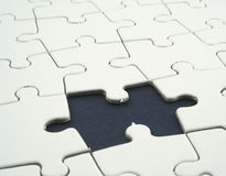 Jigsaw royalty free stock photography