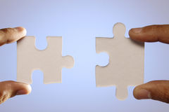 Jigsaw. A jigsaw puzzle makes a good metaphor for any problem to solve Royalty Free Stock Photos