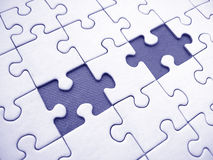 Jigsaw. Pattern with two missing pieces royalty free illustration