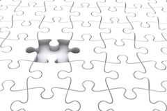 Jigsaw. Puzzle Rendered Illustration, representing Teamwork, success and standing out from the crowd Stock Photo