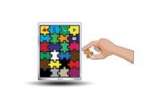 Jigsaw application Royalty Free Stock Photos