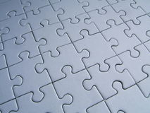 Jigsaw background. Blue jigsaw background stock illustration