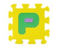 Jigsaw box with alphabet Royalty Free Stock Photo