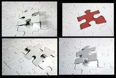 Jigsaw collage. A collage of jigsaw pieces. Background easily removed. CHECK my portfolio for more collages with many more to come Stock Images