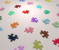 Jigsaw Colors Stock Photo