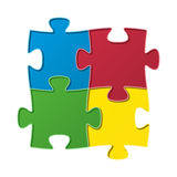 The jigsaw composition Stock Image