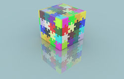 Jigsaw cube Royalty Free Stock Photo