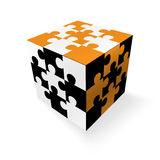 Jigsaw cube Royalty Free Stock Photos
