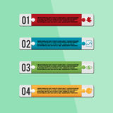Jigsaw Design Template Info Graphic Vector Royalty Free Stock Photography