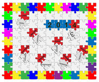 Jigsaw drop-down puzzle  2013- 2014  - Wishful Thinking 1 Stock Photos