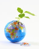 Jigsaw Earth plant Stock Photography