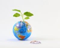 Jigsaw Earth plant Stock Image