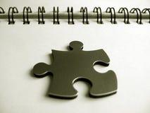 jigsaw ett stycke Arkivbild