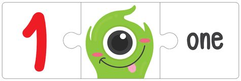 Jigsaw eye monster - one. This vector is about Jigsaw eye monster. use study for kid royalty free illustration