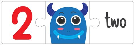 Jigsaw eye monster - two. This vector is about Jigsaw eye monster. use study for kid stock illustration