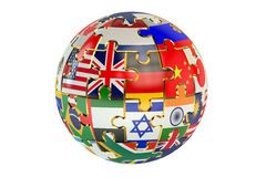 Jigsaw flag piece globe Stock Image