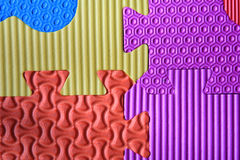 Jigsaw foam texture background Royalty Free Stock Photography